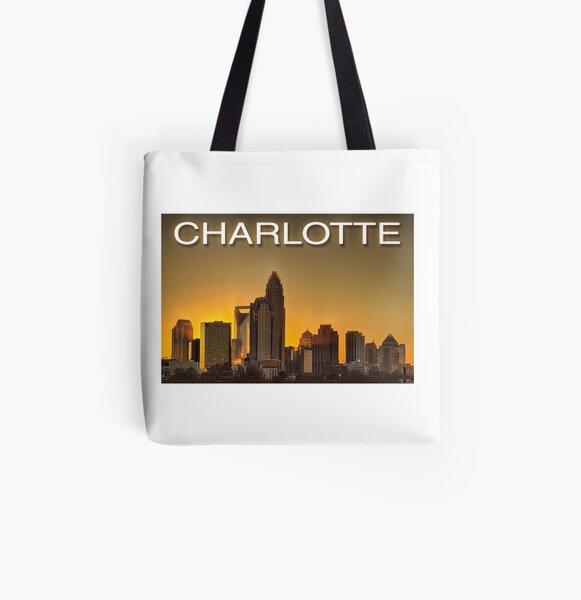 charlotte nc skyline All Over Print Tote Bag