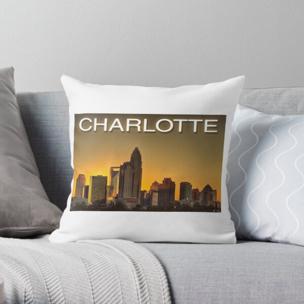 charlotte nc skyline Throw Pillow