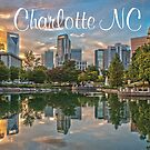 charlotte skyline by ALEX GRICHENKO
