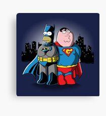 Bathomer VS Supergriffin Canvas Print