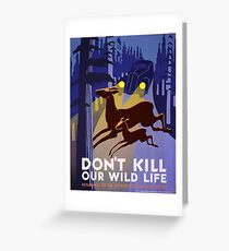 Vintage poster - Don't Kill Our Wildlife Greeting Card