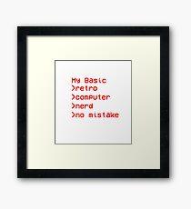 Retro Computer Nerd Framed Print