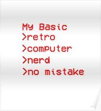 Retro Computer Nerd Poster