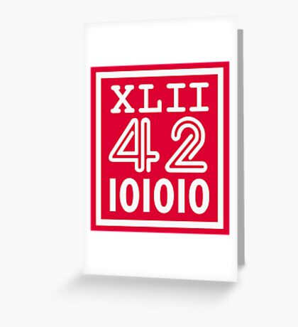 42 since the Romans VRS2 Greeting Card