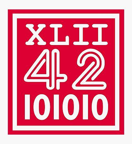 42 since the Romans VRS2 Photographic Print