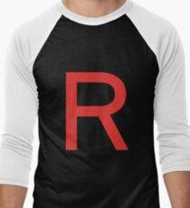 Team Rocket Symbol Pokemon Anime Comic Con Cosplay Costume Men's Baseball ¾ T-Shirt