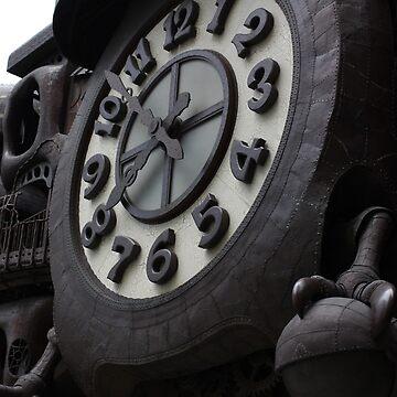 Nippon Terebi Plaza Clock, Shiodome Shimbashi, Tokyo by HalfNote5