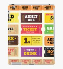 Vector Illustration. Vintage cinema tickets. BIG COLLECTION iPad Case/Skin