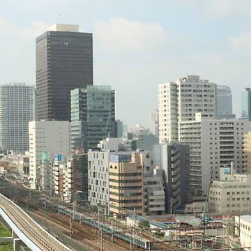 Shimbashi and Shiodome, Tokyo Japan by HalfNote5