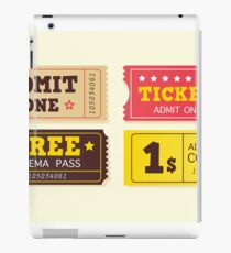Vintage cinema tickets. On movie or to Theatre? Use my tickets iPad Case/Skin