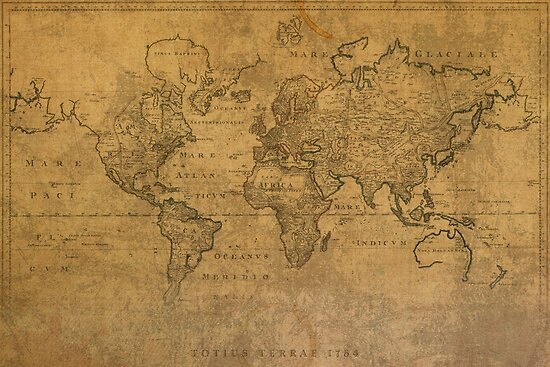 Quot Ancient Map Of The World Latin 1784 Quot By Map Lover Redbubble