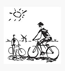 Picasso Bicycle - Biking Sketch Photographic Print