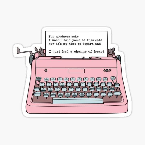 Schreibmaschine - Eine Veränderung des Herzens Sticker
