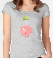 Flying Pig Women's Fitted Scoop T-Shirt