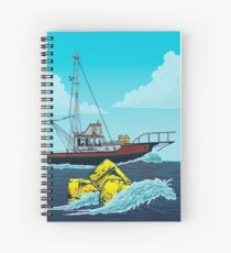 Jaws: The Orca Illustration Spiral Notebook