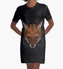Fox Face Graphic T-Shirt Dress