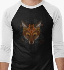 Fuchs Gesicht Baseballshirt für Männer