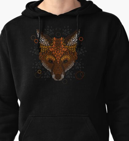 Fox Face Pullover Hoodie
