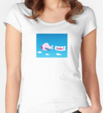 Flight sale! Flying Airplane with promotional banner Women's Fitted Scoop T-Shirt