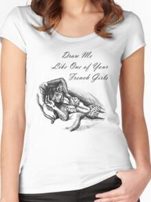 French Girl Greta Women's Fitted Scoop T-Shirt