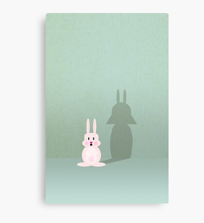 Bunny of the Dark Side VRS2 Canvas Print