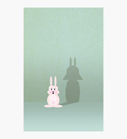 Bunny of the Dark Side VRS2 Photographic Print