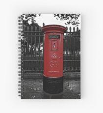 Red London Pillar Box Spiral Notebook