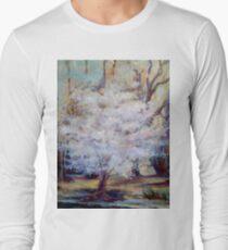 FUMC Cherry Trees, oil on canvas Long Sleeve T-Shirt