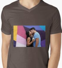 Kissing Mens V-Neck T-Shirt