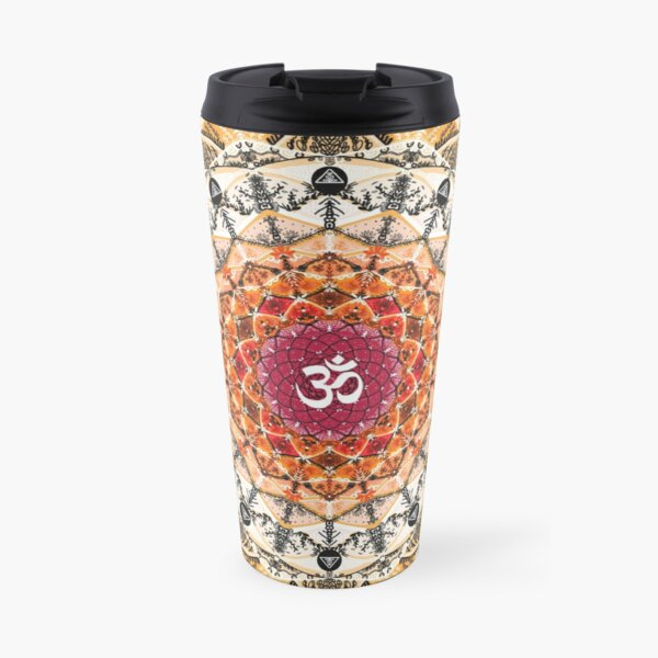 ORANGE OM MANDALA Travel Mug