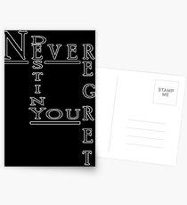 Never Regret Postcards