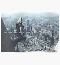 We are assassins. Poster