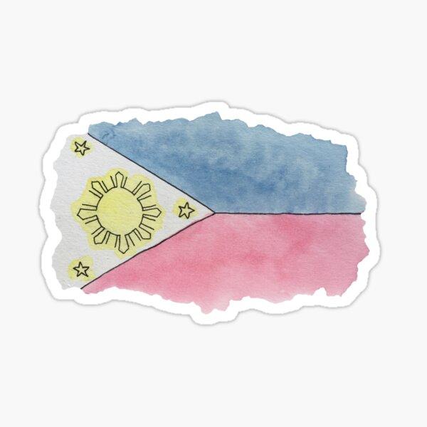 Philippinische Flagge Sticker