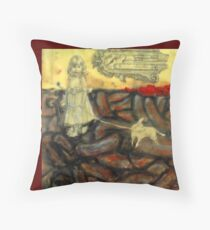 Untitled, encaustic on board Throw Pillow
