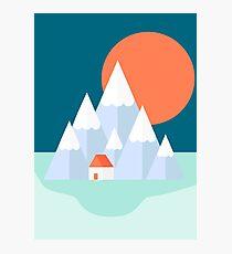 Snow Valley Photographic Print