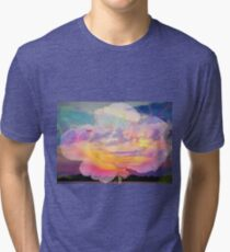 Rose in the sky without diamonds Tri-blend T-Shirt