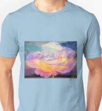 Rose in the sky without diamonds Unisex T-Shirt