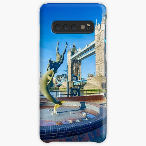 Girl with a Dolphin at Tower Bridge Samsung Galaxy Snap Case