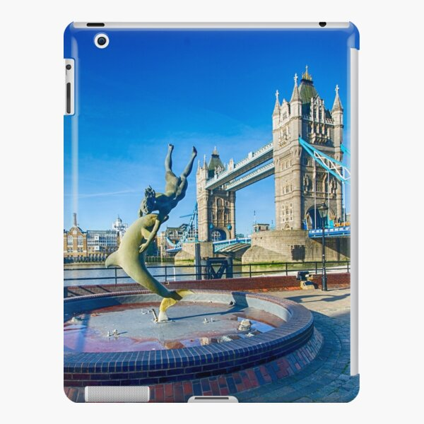 Girl with a Dolphin at Tower Bridge iPad Snap Case