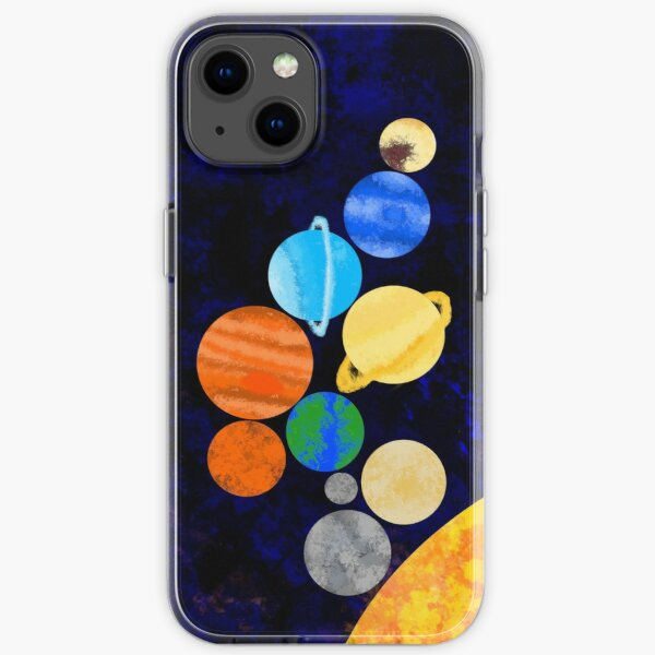 Watercolor Solar System iPhone Soft Case