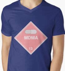 MDMA: Hazardous! Mens V-Neck T-Shirt