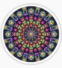 COLORFUL PSYCHEDELIC MANDALA Sticker