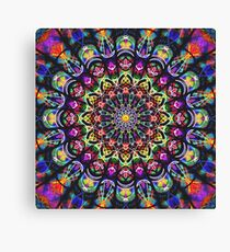 COLORFUL PSYCHEDELIC MANDALA Canvas Print