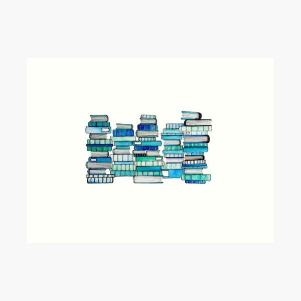 Ocean of books Art Print