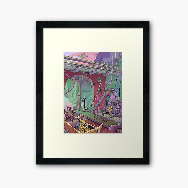 City Depths Framed Art Print