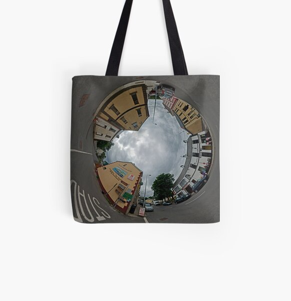 Carrick Crossroads, Donegal - Sky In All Over Print Tote Bag