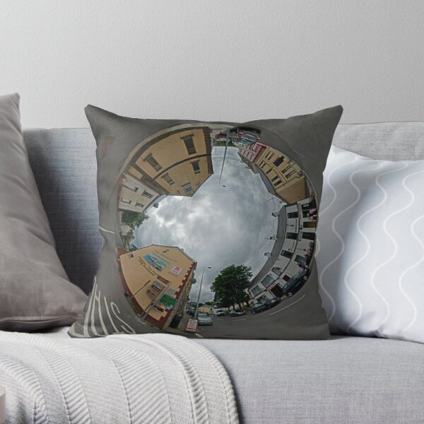 Carrick Crossroads, Donegal - Sky In Throw Pillow