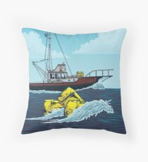 Jaws: The Orca Illustration Throw Pillow