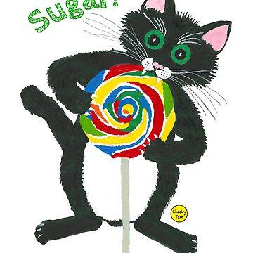 Lollipop cat Sugar by CheekyTam