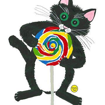 Lollipop Cat by CheekyTam